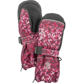 Hestra Baby Zip Long Handschoenen Kinderen roze/zwart